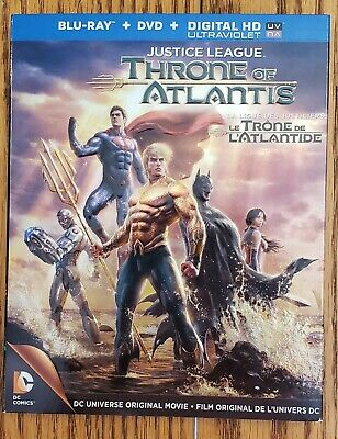 Justice League Throne of Atlantis Bluray/DVD Bilingual With Embossed Slipcover