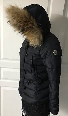 MONCLER COAT sz 4 removable Lapin colar $455.00 | PicClick