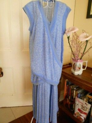 Vintage Blue & White Dress & Top By Sally Browne
