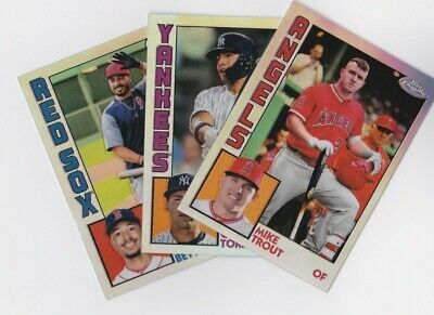 2019 Topps Chrome 1984 Refractor Insert Complete Your Set You Pick