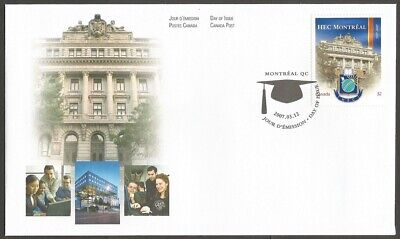 Canada 2007 Hec Montreal 52C Stamp.canada Post Day Of Issue Cover Montreal Qc