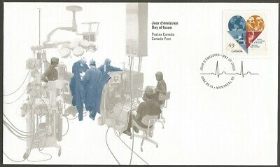 Canada Fdc.2004 Montreal Heart Institute 49C Stamp. Cp Day Of Issue, Montreal Qc