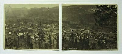 Sumpter, Oregon Orig 1903 Antique Panoramic View Photos Of Mining Town - Rare