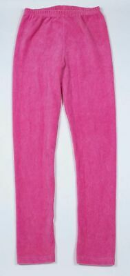 Gymboree Girls Size 8 Leggings Ribbed Pink Velour Cotton Polyester Spandex
