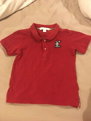 Authentic Burberry Red baby boy Polo Shirt 1-3 Yr