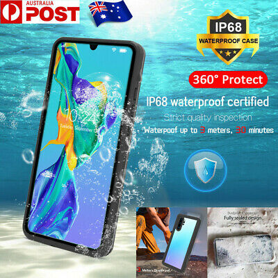 For Huawei P30 P20 Mate 20 Pro Waterproof Shockproof Dustproof TPU+PC Case Cover
