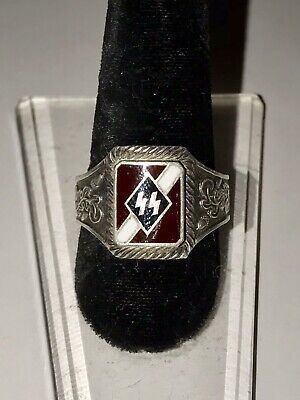 Vintage Antique Sterling Silver WWII German Officer's Ring