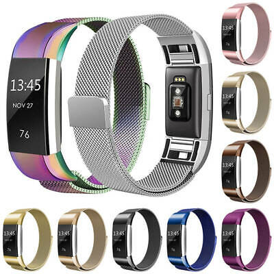 For FitBit Charge 2 Metal Stainless Milanese Magnetic Loop Replaced Band Strap