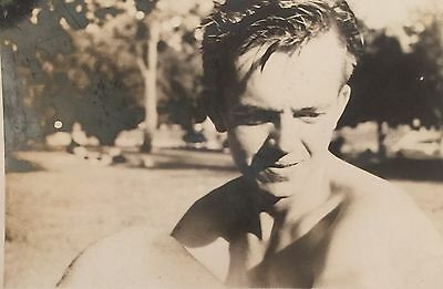 Vintage Photograph Handsome Man Great Pose Gay Interest 1960s A8
