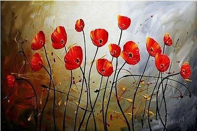 CHOP263 modern abstract art 100% hand-painted oil painting on canvas:flowers