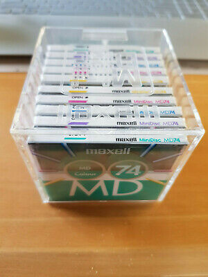 10 MiniDisc Maxell MD Colour in Box - Neu & OVP - TOP - see & buy!