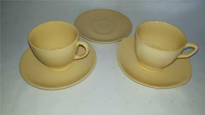 ROUND & Square CUP & SAUCERS  *Yellow JOHNSON AUSTRALIA Sovereign Pottery #4
