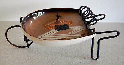Cute 1950s vintage little Mexican image wheelbarrow ashtray made in Japan