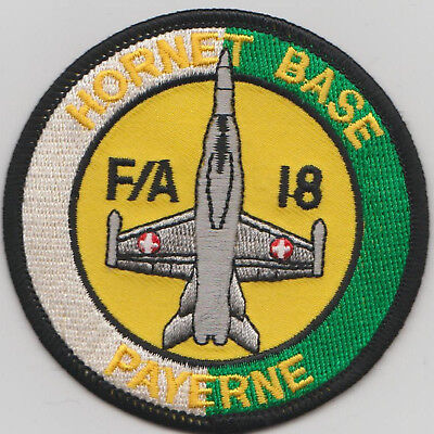 Patch Original SWISS AIR FORCE F/A-18 HORNET BASE PAYERNE