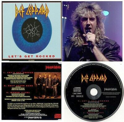 Def Leppard ‎– Let's Get Rocked CD Single 1992 + 2 Tracks - Classic Rock - NEW