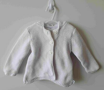 Baby Girl TARGET White Thick Knit Hooded Cardigan - Size 0