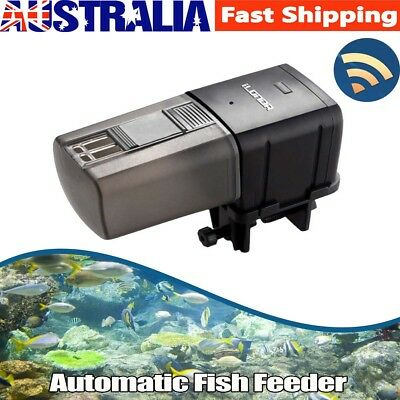 WiFi Automatic Fish Food Feeder Pet Feeding Aquarium Tank Pond Auto Dispenser AU