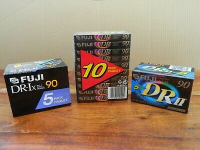 20 Pack Fuji DR 90 Blank Cassette Tape Bundle NEW Sealed