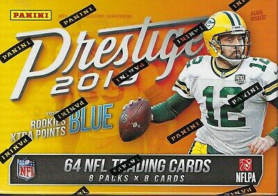 2019 Panini PRESTIGE Football NFL Cards 64c Retail BLASTER Box=1 Auto/Mem On Avg