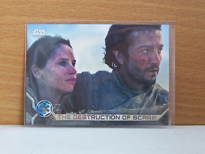 Star Wars Rogue One 2 Destruction of Scarif #98 Gray Grey parallel card 3/100