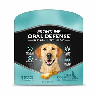 FRONTLINE Oral Defense Daily Dental Chews for Large Dogs (50 + pounds) - 7 Chews