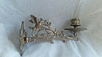 Vintage Ornate Brass Candle Piano / Wall Sconce
