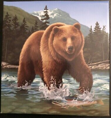 2014 1 Oz Canadian Silver $100 - The Grizzly .9999 Fine With Box/Coa
