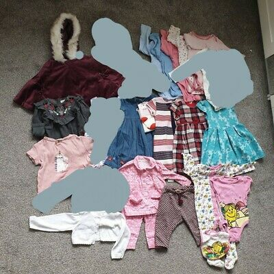 Baby Girl 9-12 Months Clothes Accessories Bundle Zara,George,Vest,Mothercare