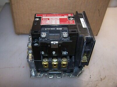 New Square D 30 Amp Lighting Contactor 8903Sm03X11 Coil 120 Vac 3 Pole