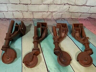 Vintage VONO Industrial Castors Set of 4 Adjustable Height BAKELITE Wheels