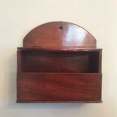 Antique Mahogany 19th Century candle box with lifting shelf