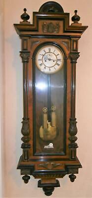 Superb Quality Double Weight Ebony & Walnut Vienna Wallclock G.W.O.