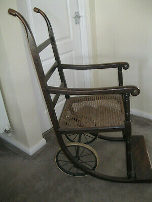 WW1 era - Invalid / wheel chair - Eastbourne  - Antique