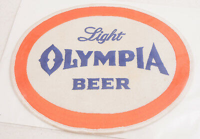 "Light Olympia Beer Large Back Patch 9x7"" (F15)"