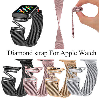 Band Correa del diamante Milanese Loop pulsera For Apple Watch series 1/2/3/4