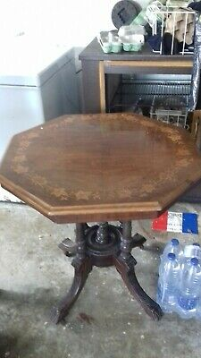 antique octagonal occasional table
