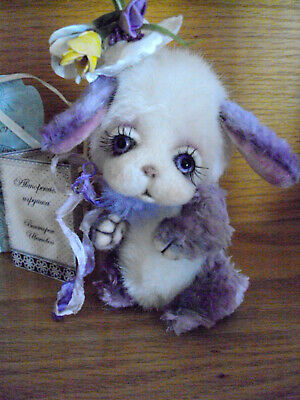 Bunny  ~  Plush, glass eyes~  by Victoria Ivanova of Russia