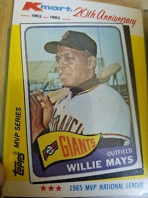 1982 Topps Kmart 20th Anniversary Willie Mays 8 Of 44 100
