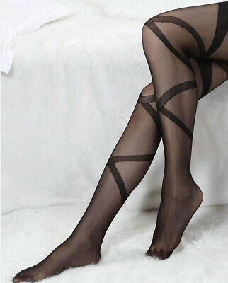 Bas Collants Rayures Cuisse Sexy Rester Hauts Haut Dentelle Filles Neuf