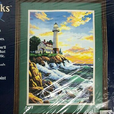 """Dimensions Paint By Number Kit Lighthouse at Rocky Point - 14"""" x 20"""""""