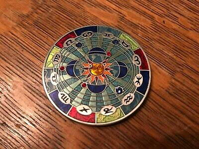 1Off Compass Rose Geocoin Dawn to Dusk, Antique Silver Finish New Unactivated