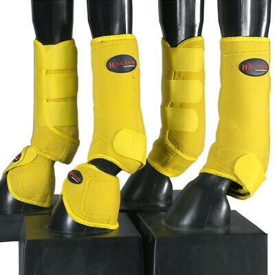 U-RED HILASON WESTERN HORSE TACK LEG PROTECTION DELUXE SKID BOOTS RED U-64RD