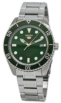 Seiko 5 Sports Srpb93j1 Men S Japan Made Green Bezel And Dial Automatic Watch