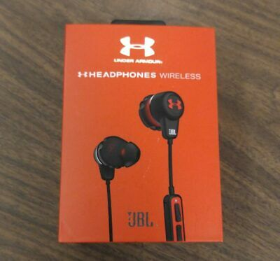 Sealed JBL Under Armour Sport Wireless Headphones - Black/Red Brand New in Box
