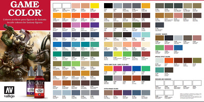 Vallejo Game Color Figure Paint Choose Mix any From Full Range Of 17ml Acrylics