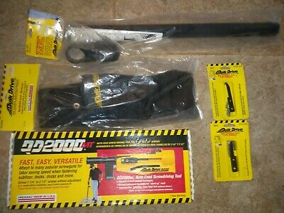 Quick drive auto feed drywall screw gun attachment quiver extension extra bits