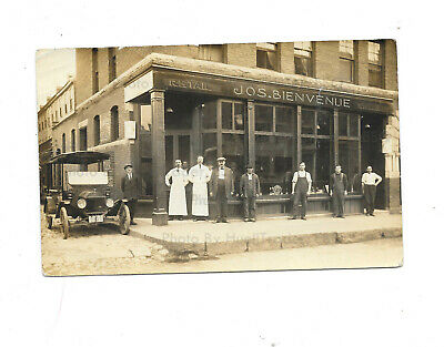 Antique RPPC New Hampshire (?) Old Saloon/Bar/Store Ext w/Old Automobile c1910