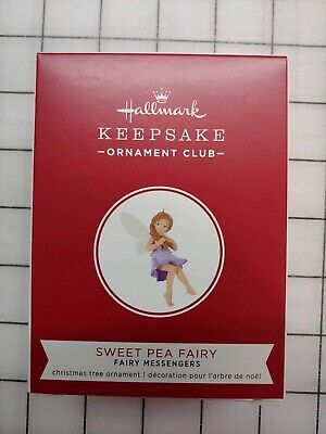 2019 Hallmark Keepsake Ornament Club Sweet Pea Fairy Repaint KOC Event RARE