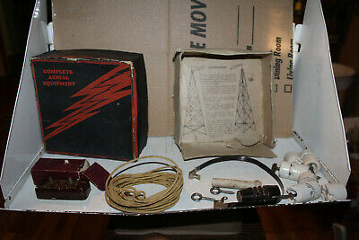 Vintage Consolidated Corporation Complete Aerial Kit Radio Rare Ham Arrestor