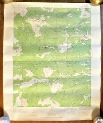 "Vintage 1942 Nederland Quadrangle COLORADO Topographic Map 22""w x 27""h"
